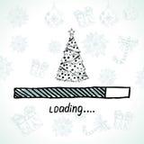 Det nya året laddar jul min version för portföljtreevektor Royaltyfri Foto