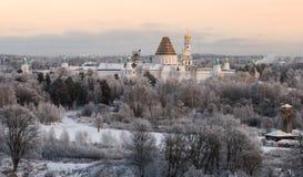 Det nya Jerusalem klosteråterställandet Arkivfoto