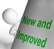 Det nya och förbättrade tecknet visar senast utveckling Arkivfoto