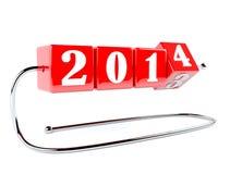Det nya året är nära Arkivfoto
