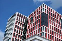Det nya stadshuset på den holländska staden av Almelo Arkivbilder