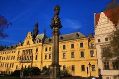 Det nya stadshuset (tjeck: Novoměstská radnice), gamla byggnader, ny stad, Prague, Tjeckien Fotografering för Bildbyråer