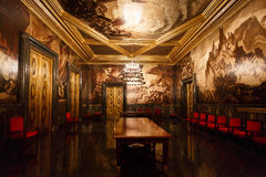 Det offentliga rummet i Cityhall av Barcelona Fotografering för Bildbyråer