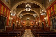 Det offentliga rummet i Cityhall av Barcelona Arkivfoto