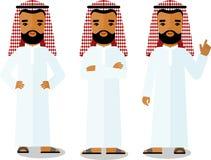 det olika arabiska affärsfolket i olikt poserar Fotografering för Bildbyråer