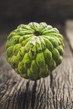 Det organiska vaniljsåsäpplet, sockeräpplet, ingen sweetsopfrukt retuscherar sk Royaltyfria Bilder