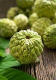 Det organiska vaniljsåsäpplet, sockeräpplet, ingen sweetsopfrukt retuscherar sk Royaltyfri Foto