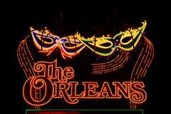 Det Orleans hotell- och kasinotecknet Fotografering för Bildbyråer