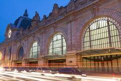 Det Orsay museet i afton, Paris, Frankrike Arkivbild