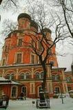 Det ortodoxa tempelet i Moscow Royaltyfri Fotografi