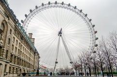 Det panorama- hjulet för London öga Fotografering för Bildbyråer