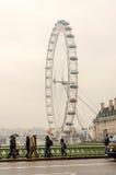 Det panorama- hjulet för London öga Royaltyfri Fotografi