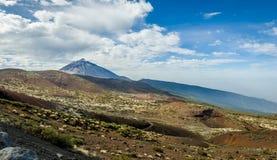 Det panorama- landskapet av det Teide berget parkerar Royaltyfria Bilder