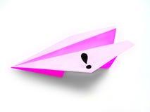 Det pappers- flygplanet kommer med en idé Arkivbild