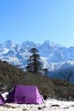Det Phedang lägret på den Kanchenjunga nationen parkerar Arkivbild