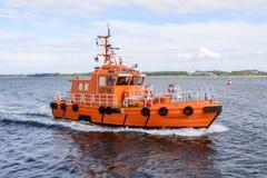 Det pilot- fartyget, Travemunde, Lubeck Fotografering för Bildbyråer