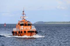 Det pilot- fartyget, Travemunde, på havet Royaltyfria Bilder