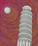 Det Pisa tornet skissar Royaltyfri Foto