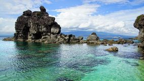 Seascape. Apo-ö, Philippines Royaltyfri Foto