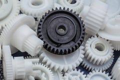 Det plast- kugghjulet Arkivfoton