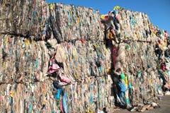Det Plastic avfall för återanvänder arkivbild