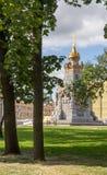 Det Plevna kapellet parkerar in, Moskva, Ryssland Fotografering för Bildbyråer