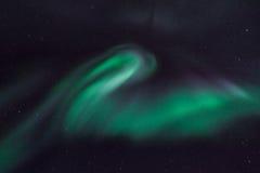 Det polara nordliga norrskenet tänder i Norge Svalbard Royaltyfria Foton