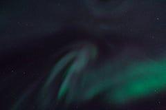 Det polara nordliga norrskenet tänder i Norge Svalbard Royaltyfri Bild