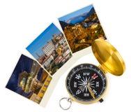 Det Portugal loppet avbildar min foto och kompass royaltyfria foton