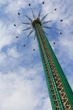 Det Prater tornet på nöjesfältet i Wien Fotografering för Bildbyråer