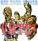 det presidents- valet 2008 undertecknar oss röstar Royaltyfria Bilder