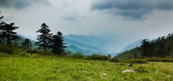 Det Qinling berg Ridge Royaltyfri Bild
