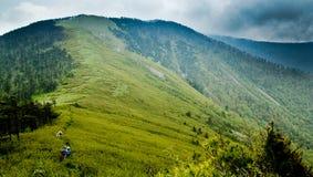 Det Qinling berg Ridge Arkivbild