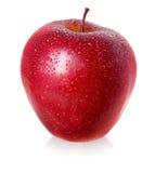 det röda äpplet vätte Arkivfoton