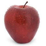 det röda äpplet vätte Royaltyfri Bild