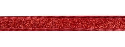 Det röda bandet med blänker arkivfoto