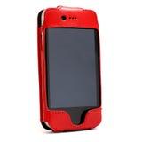 Det röda fallet för mobil ringer Arkivbild