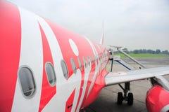 Det röda flygplan Arkivbilder