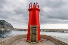 Det röda havet tänder Arkivfoton