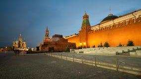 Det rött kvadrerar i Moscow, Ryssland Fotografering för Bildbyråer