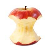 Det röda äpplet kärnar ur Royaltyfria Bilder