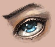 Det realistiska ögat skissar royaltyfri illustrationer