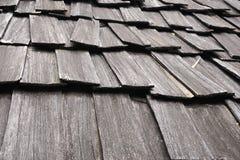 Det red ut wood taket överlappar perspektivcloseuphorisontalbakgrund Arkivbilder