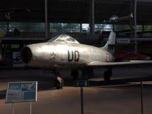 Det redaktörs- Ouragan MD-450 antika militära flygplanet ses på th Arkivfoto