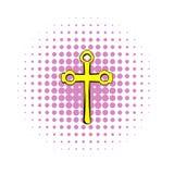 Det religiösa symbolet av korssymbolen, komiker utformar vektor illustrationer