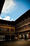 Det Rinpung Dzong fortet i den Paro staden, Bhutan Arkivfoton