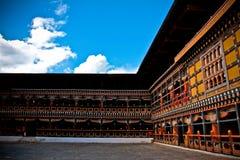 Det Rinpung Dzong fortet i Paro, Bhutan Royaltyfria Foton