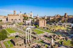 Det roman forumet i Rome, Italien Royaltyfri Fotografi