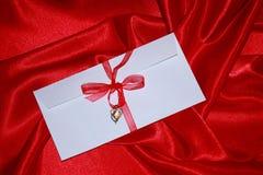 Det romantiska kortet för valentindagen - lagerföra fotoet Fotografering för Bildbyråer