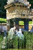Det romerska tempelet fördärvar Arkivfoto